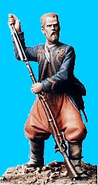 Z13 - 5th NY zouave ramming cartridge. 54mm Union zouaves (unpainted kit) - EN STOCK